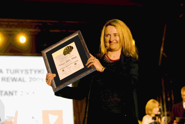Sylwia Mazur bei der Preisverleihung für die Villa del Mar