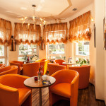 The Cafe of Villa del Mar offers all day specialty coffees, homemade cakes and pies, delicious sundaes and more